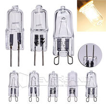 1Set 10pcs 220-240V G9 25/40/50W Halogen Capsule Transparent replacement Light Lamp Bulb Warm White wedding party decoration(China (Mainland))