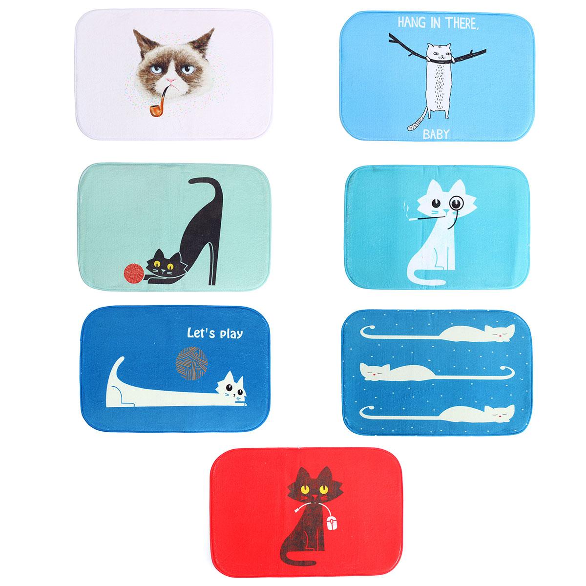 40*60cm Cutie Cat Print Rug Carpet Bathroom Floor Dining Room Door Mat Home Shop Design Decorative Craft(China (Mainland))