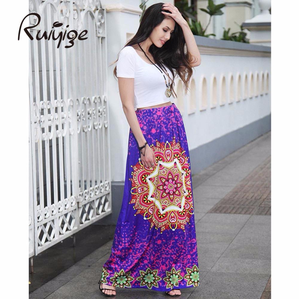 High Quality Silk Printed Maxi Skirt-Buy Cheap Silk Printed Maxi ...