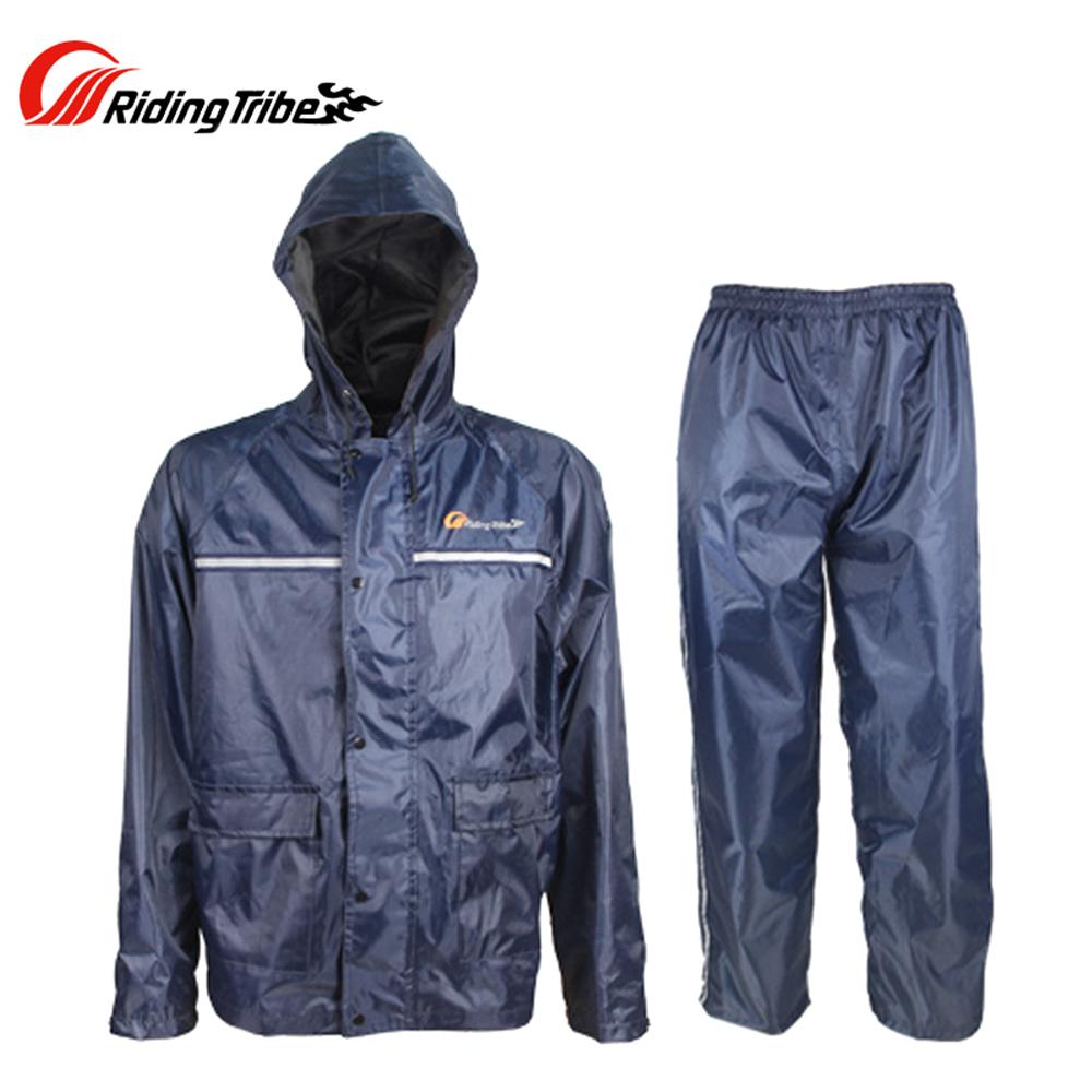 Riding Tribe Men Women Motorcycle Riding Rain Jacket Pants Hood Raincoat Rain Gear Breathable Waterproof Windproof Rain Suit Set(China (Mainland))
