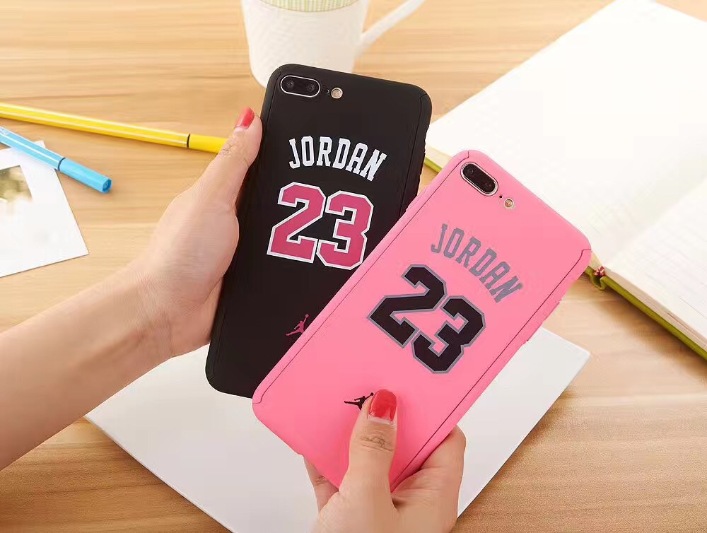 Luxury 360 Degree Full Body Protection Hard Matte PC Case cover for iphone6 6s 7 7 Plus jordan nba jersey Hoesje Coque Funda(China (Mainland))