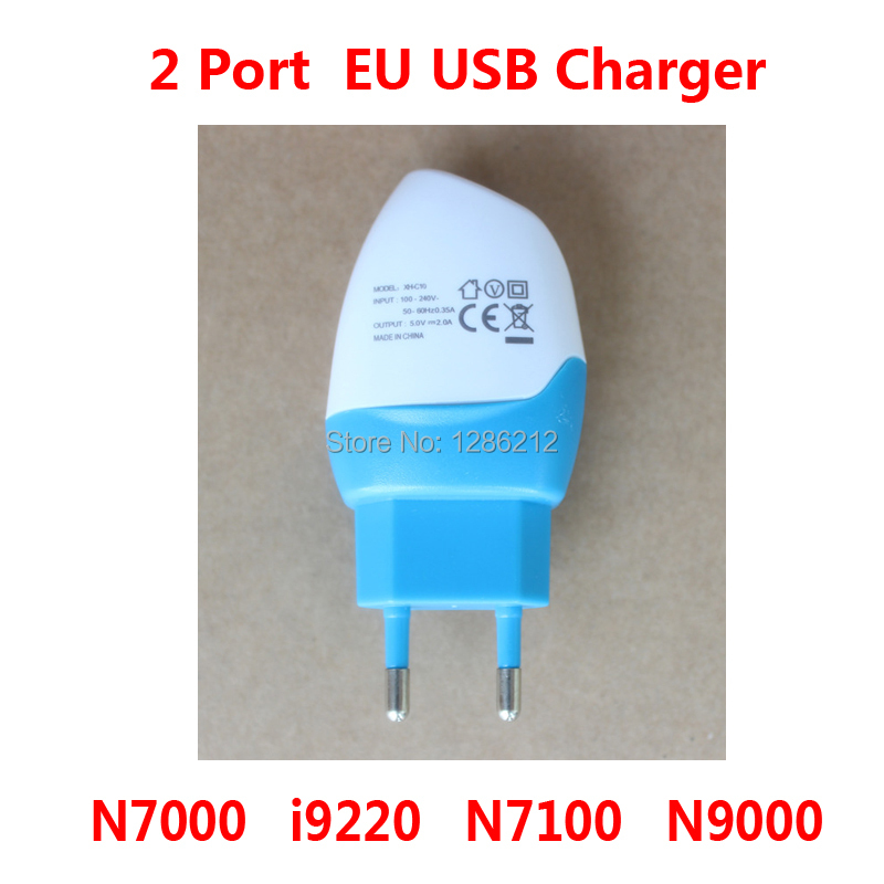 5V 2A EU Plug Dual 2 Port USB Power Adapter Charger for Samsung N7000 i9220 N7100 N9000 Travel Adapter Adaptor Cargador Chargeur