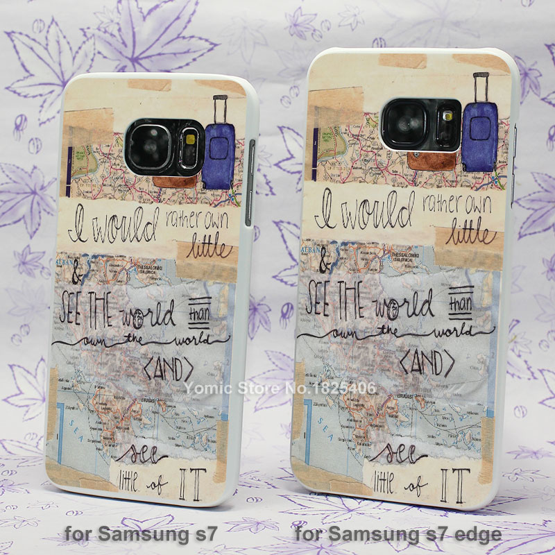 inspirational travel quotes hard White Skin Case for Samsung Galaxy s3 s4 s5 mini s6 s7 edge plastic case cover(China (Mainland))