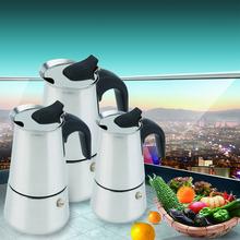 2/4/6-Cup Percolator Stove Top Coffee Maker Moka Espresso Latte Stainless Pot(China (Mainland))