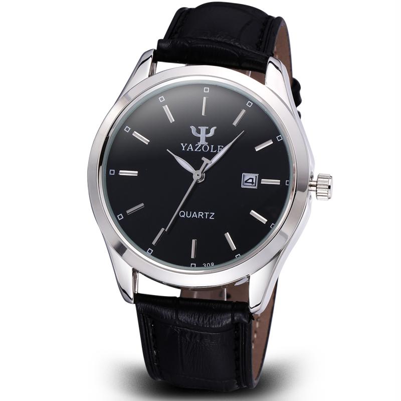 Genuine Leather Business Watches Men Date Luminous Hands Analog Quartz Watches Men's Fashion Casual Watch Wristwatch Relogio(Hong Kong)