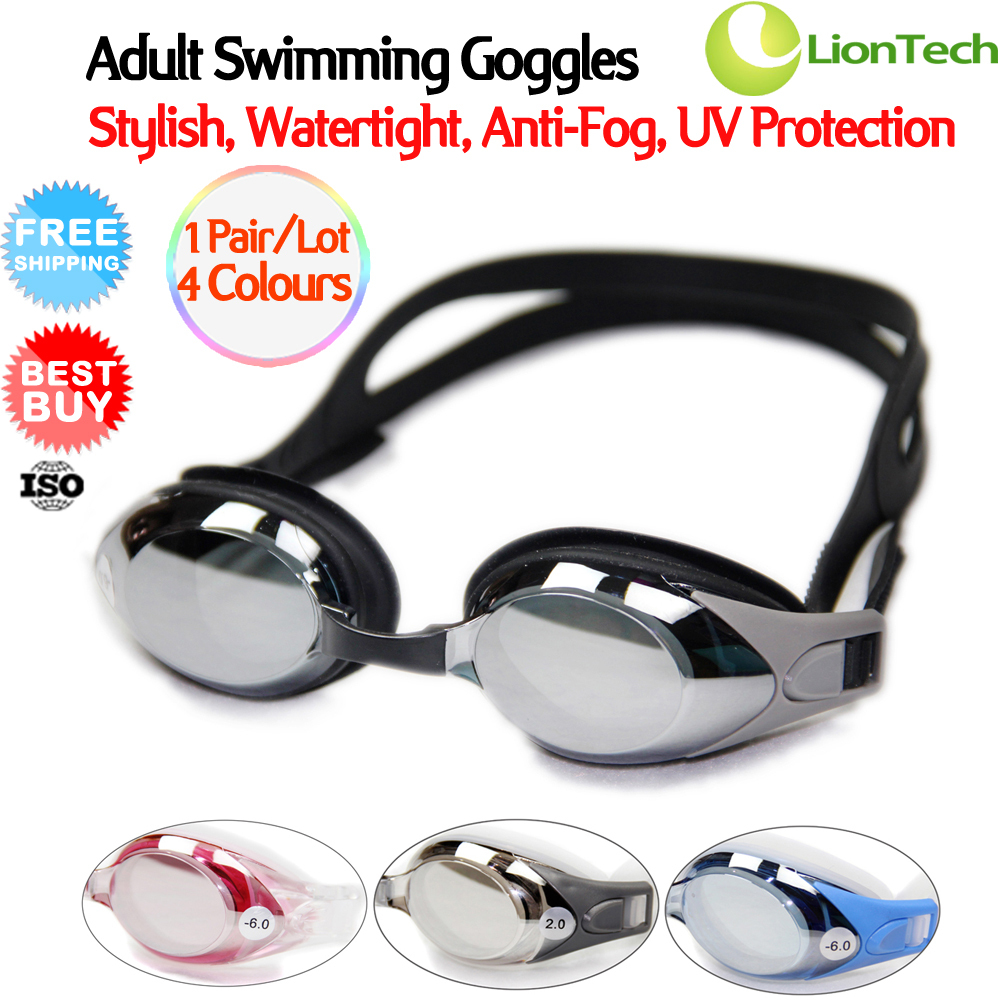NEW 1 Pair/Lot PRO Performance Stylish Adult Swimming Goggles Waterproof 100% Anti-fog/UV with High Quality Carrying Case UU6319(China (Mainland))