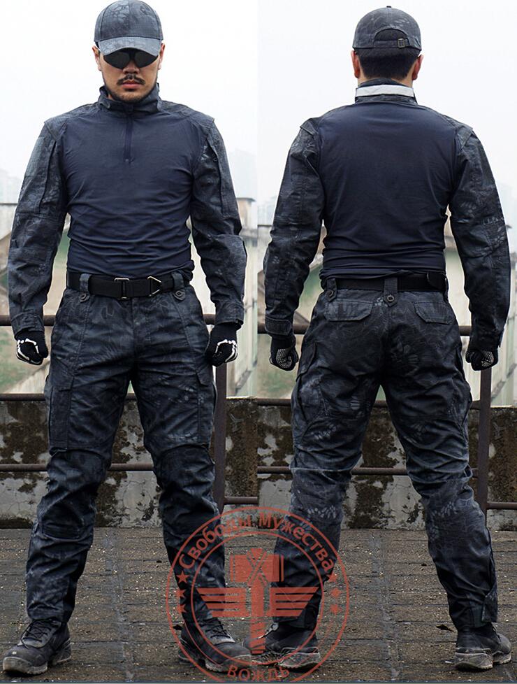Chief Gen3 G3 Rattlesnake Camo Tactical SEAL TEAM MANDRAKE Set Shirt & Pants Uniform Kryptek style Combat Military training suit  -  Tactical's store store