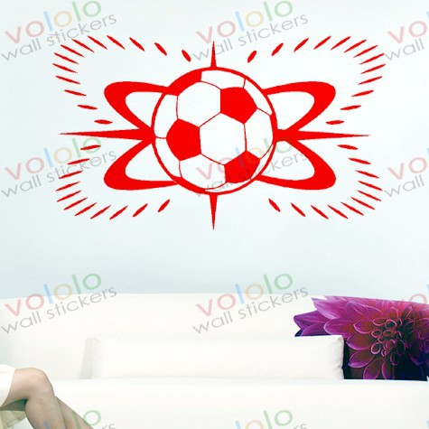 Free shipping Wall Stickers Wholesale and retail Wall decor PVC material decals wallpaper World Cup football Z-177(China (Mainland))