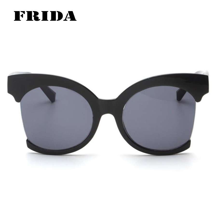 Big Frame Glasses Hipster : FRIDA 2016 New Fashion Half Frame Oversized women ...
