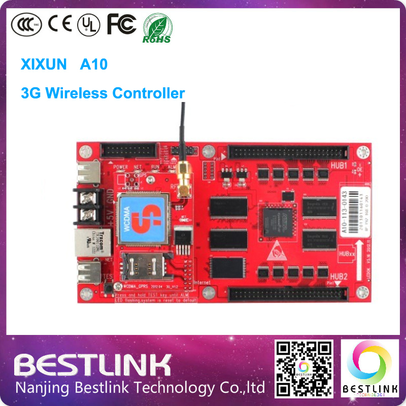 Xixun A10 3G Wireless led Controller card Single/dual Color Control Card p10 outdoor led advertising board open sign taxi top(China (Mainland))