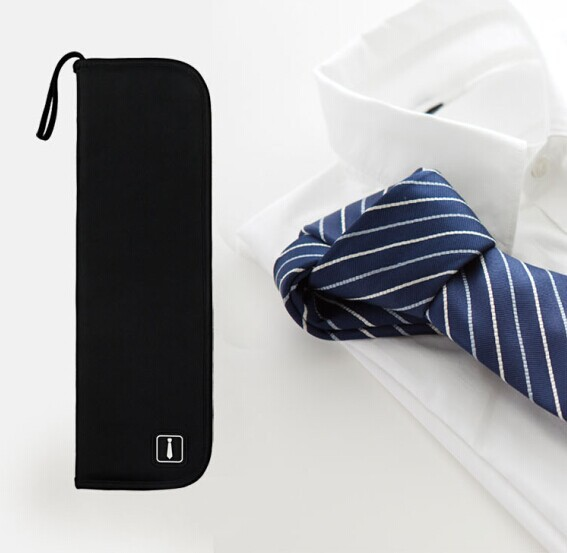 2015 New Neckties Travel Bags High Quality Tie Storage Bag Gentelman Nylon Tie Cover Travel's Necktie Tie Organizer Bag(China (Mainland))