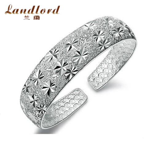 Fine jewelry luxury &amp; elegant bangles 100% Real Pure 999 Sterling Silver bracelets &amp; bangles all star bangles for women YSZ-0014<br><br>Aliexpress