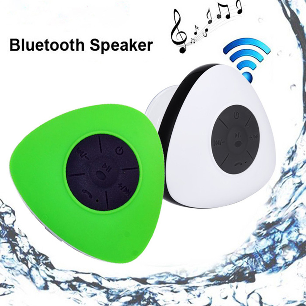 JT2681 Water Resistant Triangle Bluetooth Speaker With Stereo Bathroom Music Player Siri Compatible Portable Speakers For iPhone(China (Mainland))