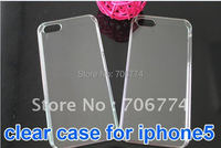 Free shipping 100PCS/Lot new arrival  For iPhone 5 5G 5th case Transparency Clear Crystal Hard Case For iPhone5