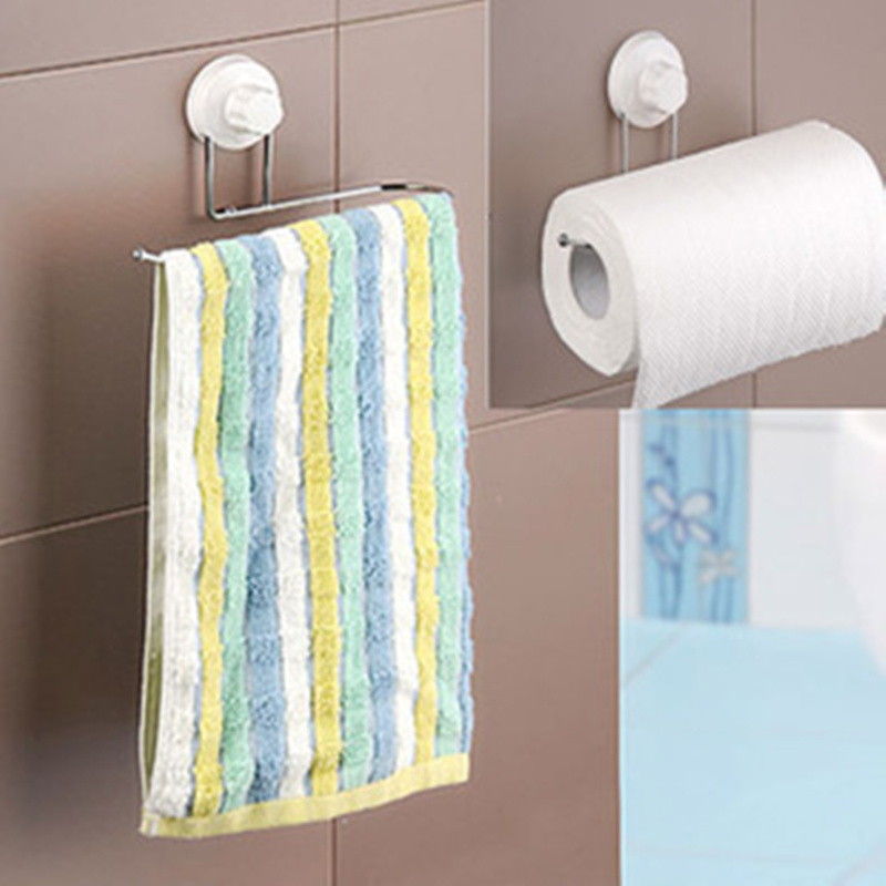 Brand New Towel Holder Sucker Towel Rack Kitchen Tissue Holders Toilet Paper Holder Suction Cup