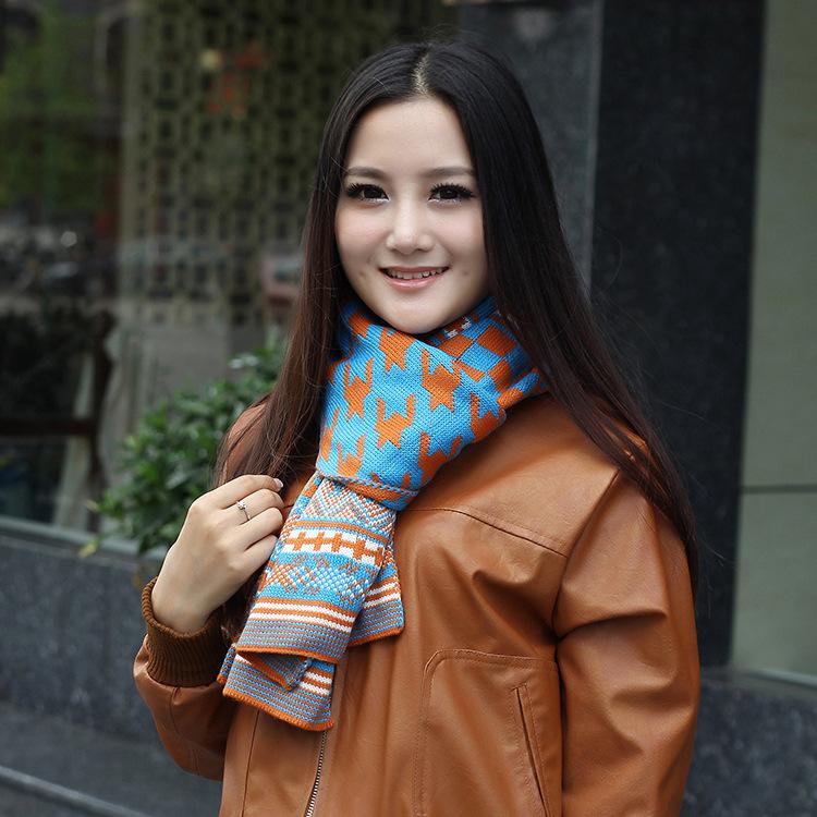 New South Korean manufacturers wholesale scarves Korean Houndstooth plaid stripe warm towel sunscreen shawl collar fashion(China (Mainland))