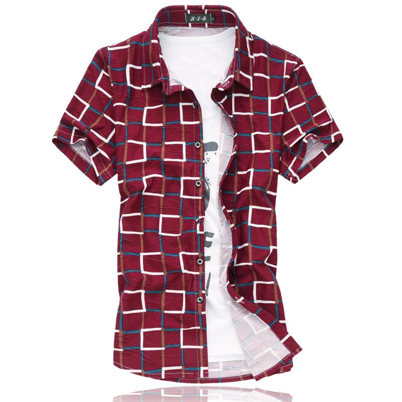 M 6xl dress shirt new mercerized cotton mens floral shirts for Mens short sleeve floral shirt