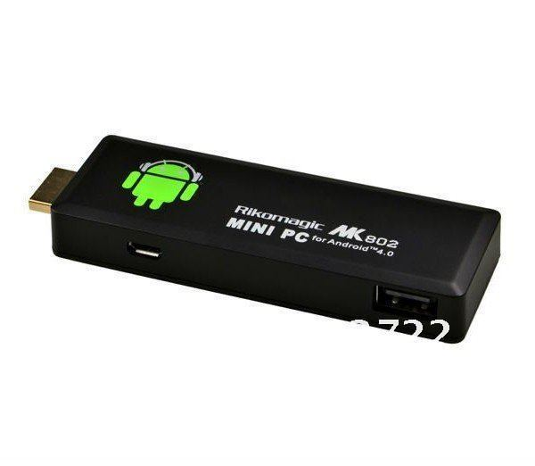 Rikomagic MK802II Mini PC,Mini Android4.0 dongle,google tv,smart android box,allwinner A10, 1GB DDR3