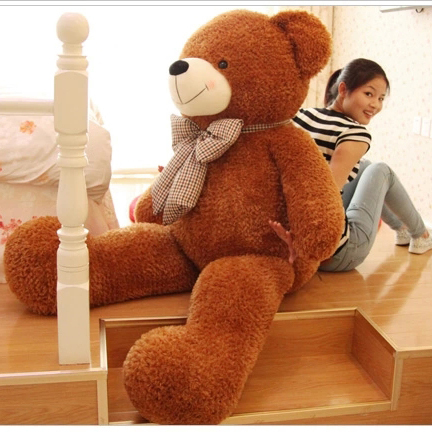 HOT sale Small 80cm CUTE Brown plush teddy bear soft 100% cotton toy free shipping(China (Mainland))