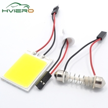 Buy Promotion 2Pcs White T10 24 Smd Cob Led Panel Car Auto Interior Reading Map Lamp Bulb Light Dome Festoon BA9S 3Adapter DC12v for $1.26 in AliExpress store