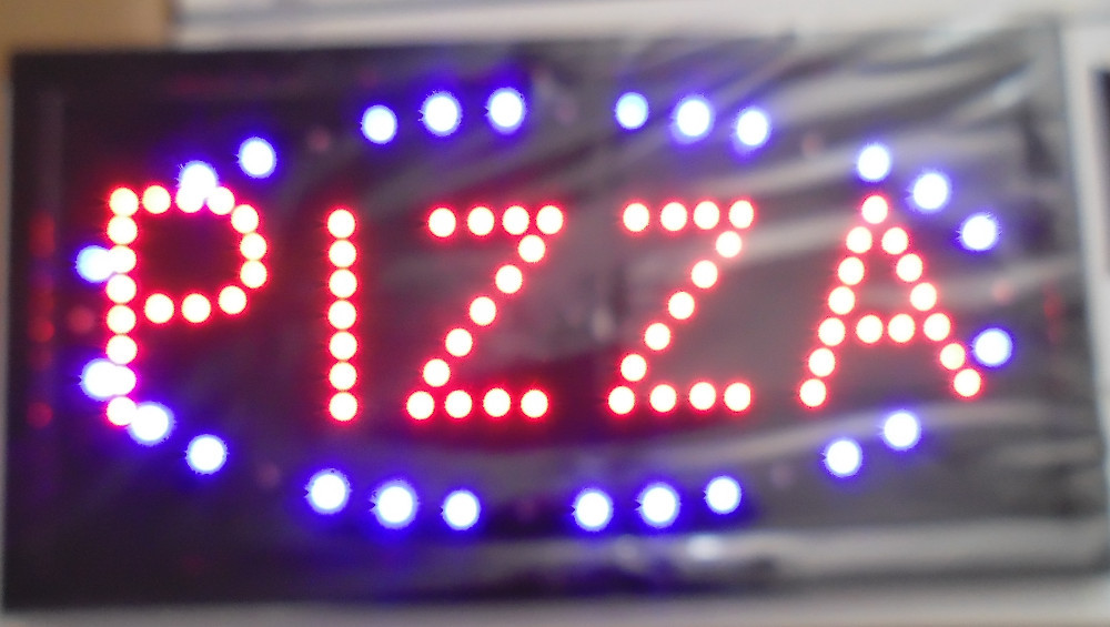 direct selling 10x19 inch pizza store business time open sign /led window sign(China (Mainland))