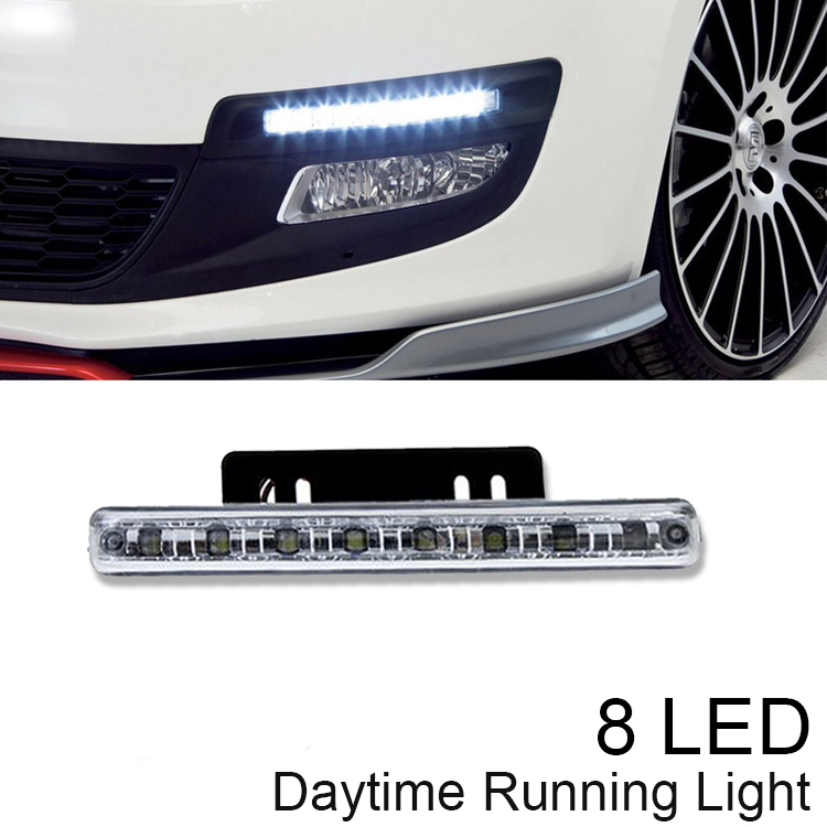 2015 New 8LED Car Styling Daytime Running Light Driving DRL Car Fog Lamp Waterproof White DC 12V Free shipping&amp;Hotsale<br><br>Aliexpress