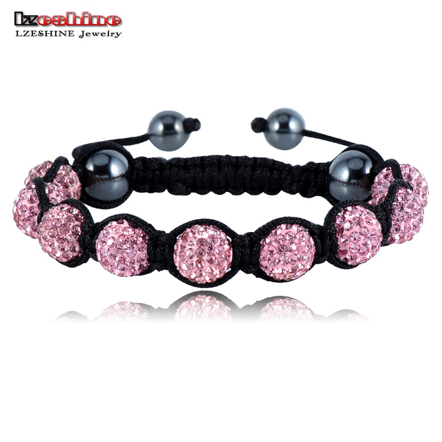 Sales Promotion 10mm Crystal AB Clay Disco Ball Shamballa Bracelets & Bangles Mix Colours Options pulseira SHABSmix1
