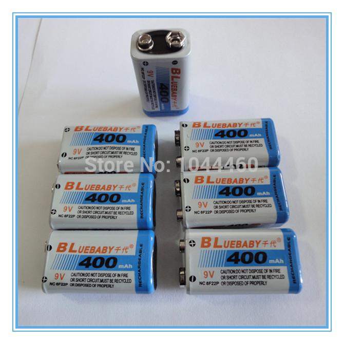 7PCS/ Multimeter Battery LOT BP 9V 9 Volt Ni-MH Rechargeable Battery 400mAh Batteries Free Shipping(China (Mainland))
