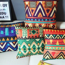 Boho Geometric Linen Cotton Pillow Cover Cushion cover