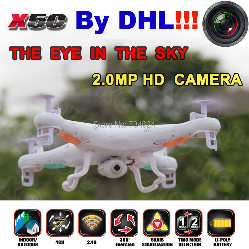 Shipping By DHL Syma X5C Quadrocopter 2.4G 6 Axis GYRO X5C-1 RC Quadcopter RTF