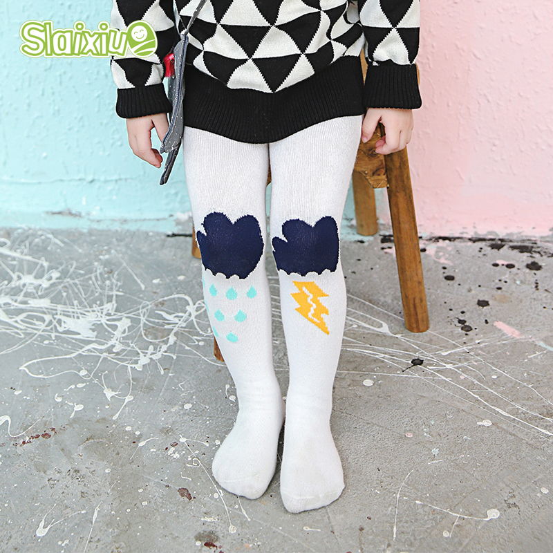 Cute Thunder Pattern font b Boys b font Girls Tights Pantyhose Kids Stocking Infant font b