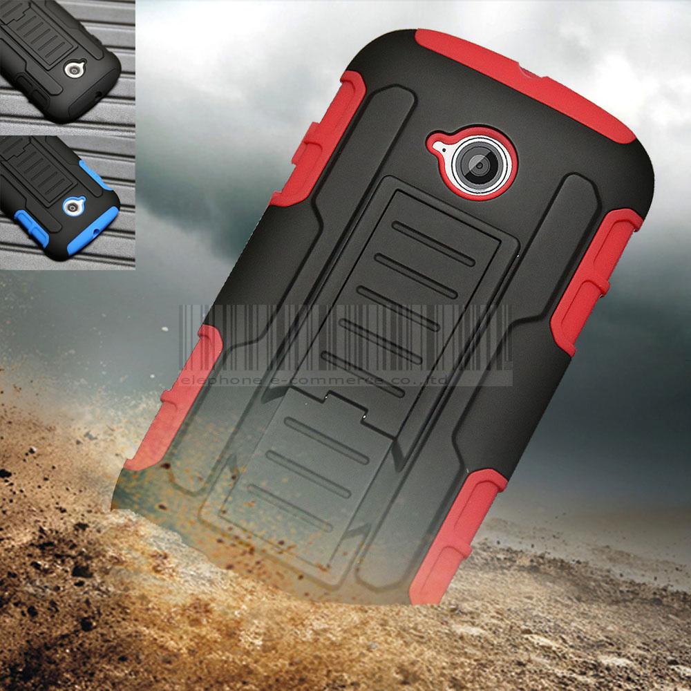 Rugged Armor Hybrid Case Hard Cover Holster For Motorola Moto E2 LTE xt1527 + Film +Pen(China (Mainland))