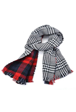 10 Pack Lady Women's Long Check Plaid Tartan Scarf Wraps Shawl Stole Warm Scarves Red