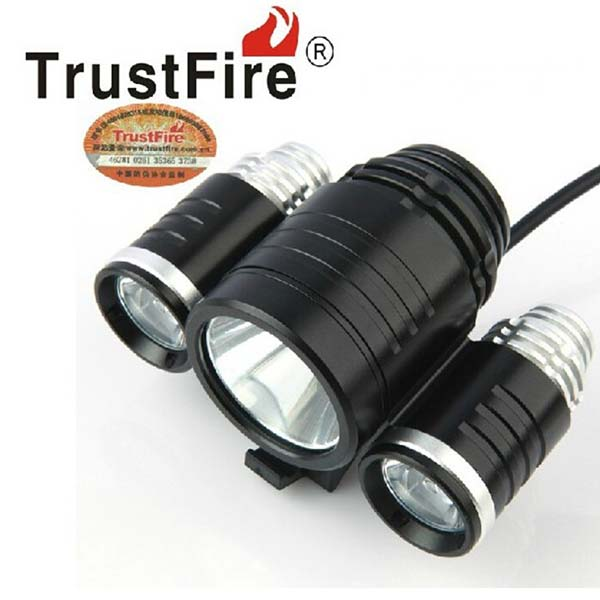 TrustFire 3 Heads 1xCREE XML T6 +2x CREE XP-E R2 1800LM 3-Mode LED Bicycle Light with Battery Pack and Charger<br><br>Aliexpress