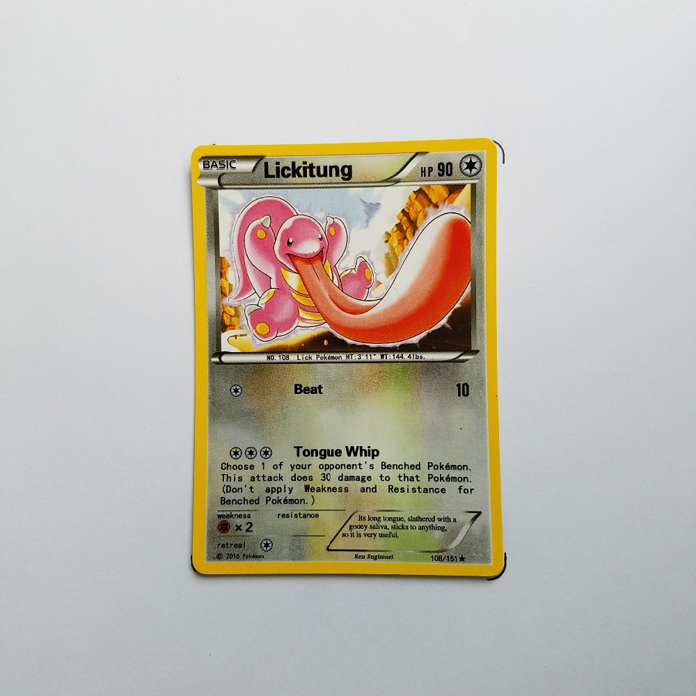 Pokemon Card Single Sale A80015 Lickitung Normal Type Basic Ordinary Card Play Anime Toys Cards Game Trading Collection