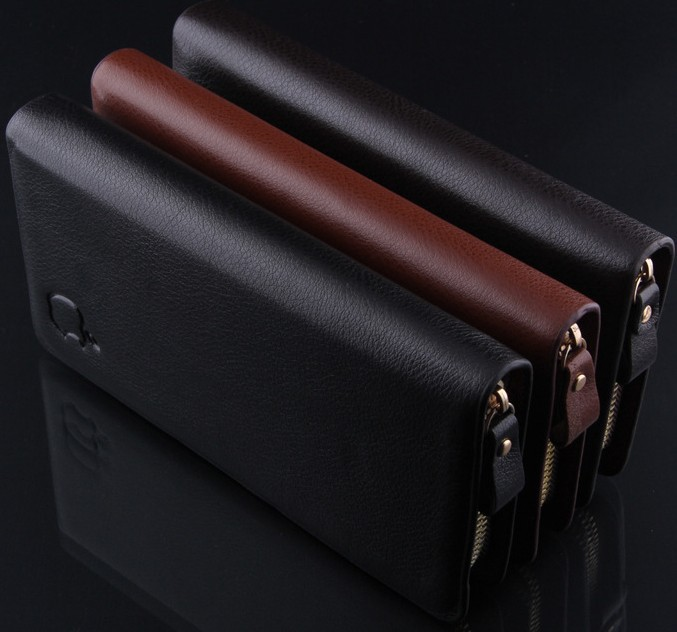 M02 new 2014 brand genuine leather mens wallet clutch carteira money bags for men black coffee purse<br><br>Aliexpress