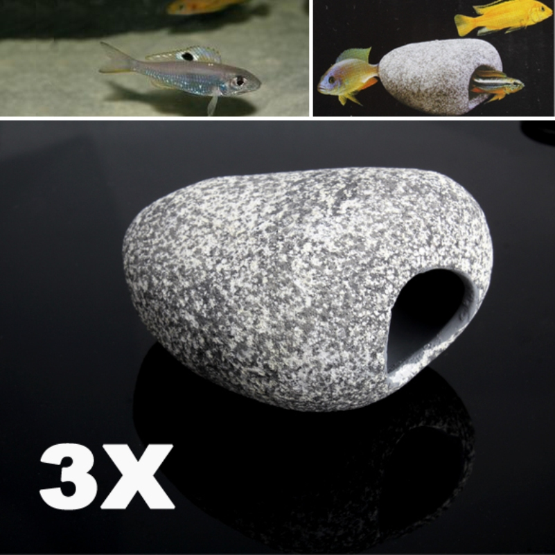 2016 new eco friendly 3 pcs aquarium ornament decoration for African cichlid rock decoration