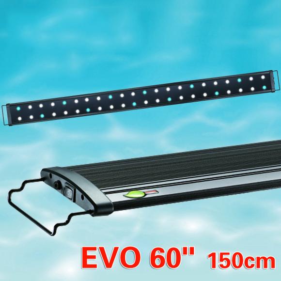 """150 CM Odyssea Green Element EVO 60"""" LED Aquarium Light Marine Coral Reef FOWLR Cichlid 44 x 3W 3 Watt Lunar(China (Mainland))"""