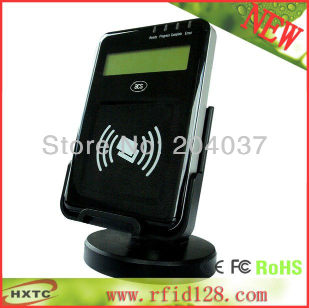 2016 13.56MHZ  LCD-equipped PC-Linked NFC Contactless Reader Writer# ACR1222L  Support ISO14443 A B Card with sdk kit+2PCS cards<br><br>Aliexpress