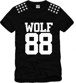Tide Brand EXO Wolf 88 T Shirt Men And Women Camisetas Masculinas Top Quality Men T Shirt Hip Hop T Shirt Men Tees(China (Mainland))
