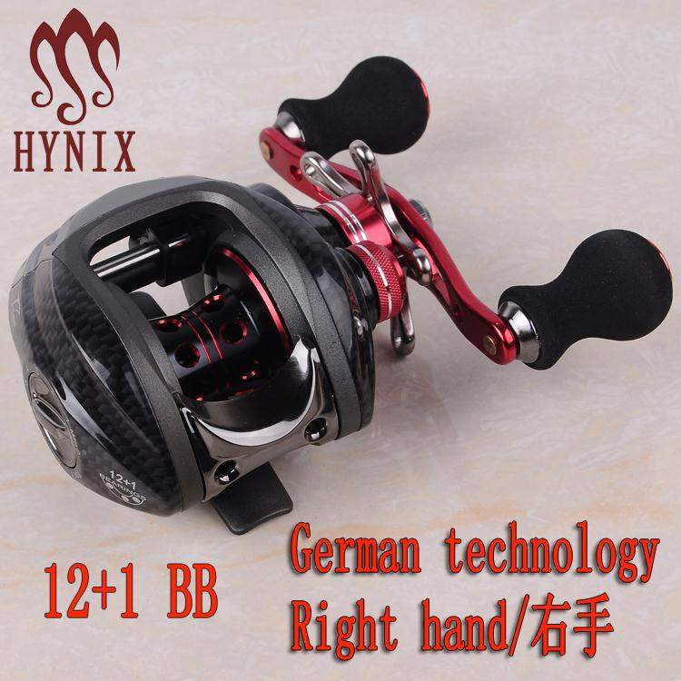 hynix Brand Bait casting Reel water drop wheel 12+1 Ball Bearings 215g Double Brake System Right Hand Bait Casting Fishing Reel(China (Mainland))