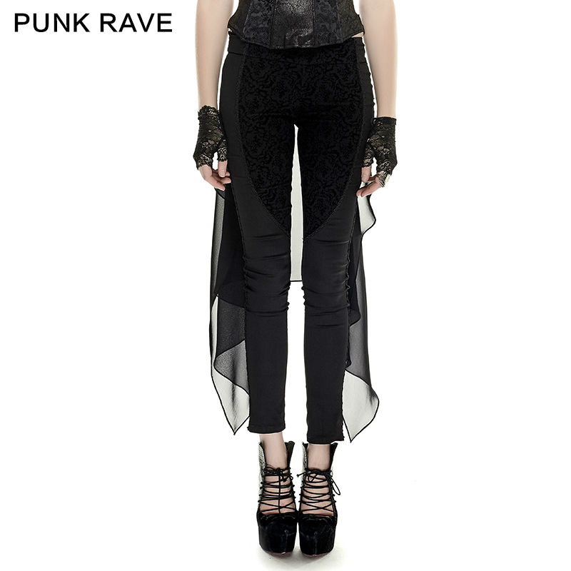 New Punk Rave Womens Flare Pants Jeans Black Gothic Dieselpunk Bell Bottom Trousers | EBay