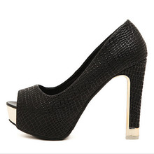 Fashion Sexy High Heel Shoes Women Pumps Classic Peep Toe Square Thick Heel Platform Shoes New