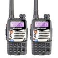 2PCS New Walkie Talkie Baofeng UV 5RA For Police Scanner Radio VHF UHF Dual Band Ham