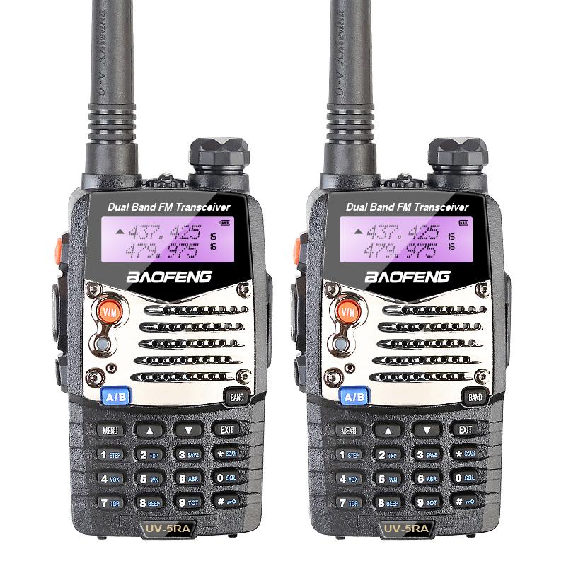 2PCS New Walkie Talkie Baofeng UV-5RA For Police Scanner Radio VHF UHF Dual Band Ham Radio Transceiver Free Headset(China (Mainland))