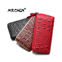 New Ladies Purse classics crocodile texture PU leather zipper wallets more capacity of bank card wallet women mobile phone bag
