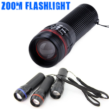 Hot Selling Q5 LED Flashlight Highlight Zooming Led Flashlights 3 Mode Retractable Torch Light Lamp for Daily Use(China (Mainland))