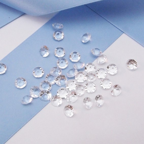 Clearance Sale 65mm1 Carat Diamond Confetti Acrylic Beads Table