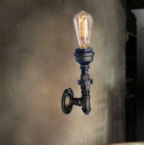 Фотография Nordic Loft Style Edison Wall Sconce Creative Water Pipe Lamp Industrial Vintage Wall Light Fixtures Home Lighting Lampara