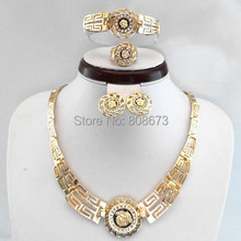 18K Gold Plated Or Platinum Plated Jewelry Sets Medusa Hot Selling Lion Head Myth Necklace Sets Woman Jewelry Set For Wedding